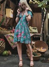 NWT Spell & The Gypsy Collective Turquoise Babushka Short Sleeve Playdress-Small