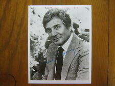 GENE BARRY(Died in 2009/Burke's Law/ Signed  8 X 10 B & W Photo(Name of the Game