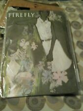 A PAIR OF VINTAGE FIREFLY BRONZE SEAMLESS STOCKINGS 1960s SIZE 8 1/2 NEW