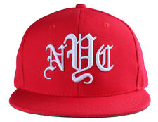 40oz Forty Ounce NYC Big Apple New York Old English Red Snapback Baseball Hat