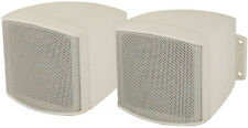 Z9K - ADASTRA WHITE COMPACT 100V 8 OHMS BACKGROUND SPEAKERS WITH BRACKET - PAIR