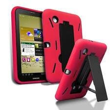 For Samsung Galaxy Tab 2 7.0 7 inch Tablet Armor Rugged Cover Red Box Stand Case