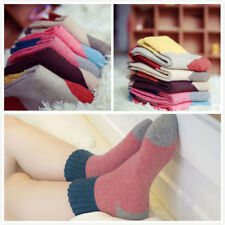5 Pairs Women Girls Wool Blend Warm Soft Thick Casual Sports Winter Socks