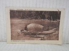 Vecchia cartolina foto d epoca di OCEANIA PARTENZA PER LA PESCA SCENE DI VITA