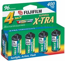 Fuji Superia X-TRA CH ISO 400 ASA 35mm Superia Film/ 24 Exp-4 Pack
