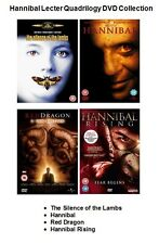 HANNIBAL LECTER QUADRILOGY DVD COLLECTION ALL 4 MOVIE FILMS Brand New Sealed UK