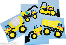 TONKA JUMBO STICKERS (5) ~ Construction Birthday Party Supplies Favors Trucks