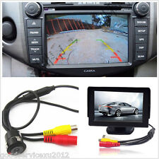 18.5mm Car SUV Backup Reverse Camera & Drilling Accessories & 4.3Inch LCD Screen