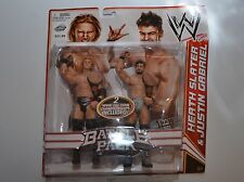 HEATH SLATER & JUSTIN GABRIEL NEXUS TAG BELTS WWE Battle Pack 2-Pack Basic NEW