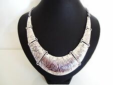 Stunning Chunky Silver Torque Collar Statement Necklace  LaGeNLooK JeWeLLeRy