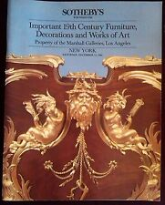 Sotheby's Dec. 15, 1984 Important 19th Century Furniture Decoration Art Marshall