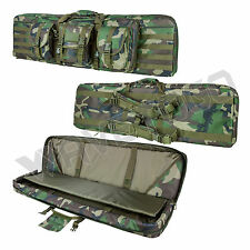 "VISM NcSTAR Tactical 42"" Padded Double Carbine Rifle Gun Case Woodland Camo"