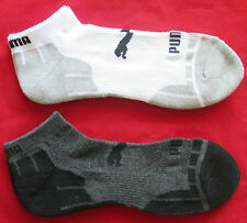 Ankle Low Cut Puma Mens Boys Sports Running Socks Twin Pack Size 11 - 15 NEW