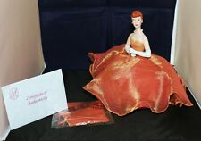 """Marie Osmond Pin Cushion Doll """"On Pins and Needles"""" 9"""" Tall Porcelain NEW in BOX"""