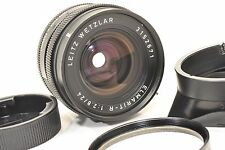 Leitz Wetzlar   ELMARIT 24mm F2,8, Leica R mount. UV filter, lens hood. rear cap