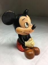 "Vintage Mickey Mouse Coin Bank 5"" Walt Disney Productions"