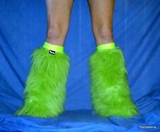 UV Flo Neon Green FLUFFIES FLUFFY LEGWARMERS BOOTS COVERS furries