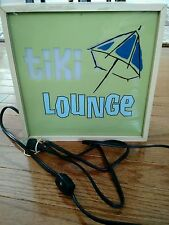 Double Face 2 Sided LIGHT BOX SIGN: Tiki Lounge/Open for Business
