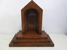 Vintage Handmade Oak Statue Niche or Prayer Altar w/Hidden Drawer