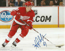 Detroit Red Wings Xavier Ouellet Signed Autographed 8x10 Photo COA B