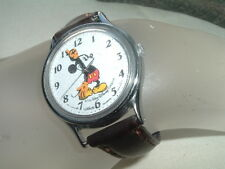 Vintage Lorus Quartz Walt Disney Mickey Mouse Watch in Gift Box w Leather Band
