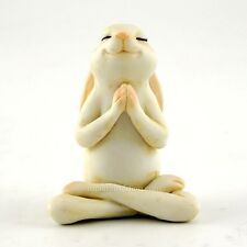 Miniature Yoga Bunny Seated Namaste Pose 4391 /Fairy Garden  Bunny Rabbit