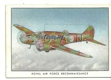 WWII 1940s- Original Cigarette Card- RAF- Airplane- Reconnaissance- Avro Anson