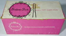 "50's Salon Set Ball Tipped Hair Pins Crimped Bronze 1 3/4"" Made in France"