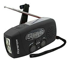 iRonsnow IS-088 Dynamo Emergency Solar Hand Crank Self Powered AM/FM/NOAA Wea...