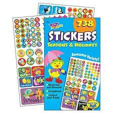738 Seasons & Holidays Reward Stickers - Variety Pad - Lots of Designs & Sizes