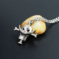 Anime One Piece Fire Fist Ace Figure Alloy Pendant Necklace Cosplay Jewelry Gift