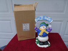 FESTIVITIES BY ENESCO  Animated Music Box #4322563 Snowman Frosty -2001- NIB