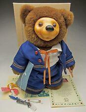 Robert Raikes Bear called Georgy Porgy, Brown Faux Fur With Holding a Cloth Kite