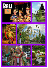 BALI, INDONESIA - SOUVENIR NOVELTY FRIDGE MAGNET - SIGHTS / TOWNS - NEW - GIFTS