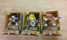 M&M´s Rock Star set 3 band musicians Sax Drums Electric Guitar Red Yellow & Blue