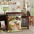 Lambs & Ivy Woodland Tales 6 Piece Baby Crib Bedding Set w/ Bumper & Mobile NEW