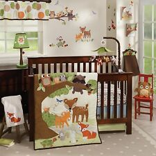 Lambs & Ivy Woodland Tales 5 Piece Baby Nursery Crib Bedding Set w/ Bumper NEW