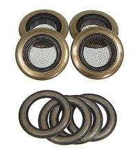 4pc. 1-inch Outside Dia. Screened Antique Brass Grommets w/ Washers 32-27-01