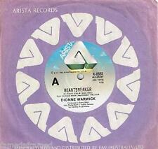 """DIONNE WARWICK - HEARTBREAKER - 7"""" 45 VINYL RECORD w PICT SLV - 1982"""