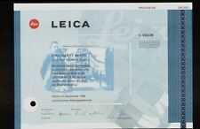 LEICA AG GERMANY  dd 1996 - famous German Camera / Lens Makers
