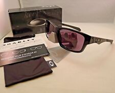 OAKLEY JUPITER SQUARED POLISHED BLACK WARM GREY SUNGLASSES 9135-01 AUTHENTIC NEW