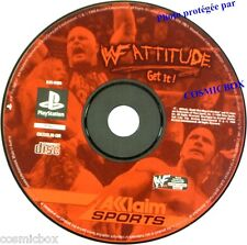 PlayStation 1 WF ATTITUDE jeu video de catch SONY psx ps1 ps2 ps one testé ok