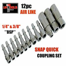 12pc Air Line Quick Coupling Set Bayonet Fitting Air Hose Connectors Compressor