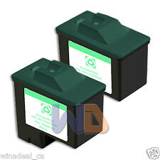 2 BLACK Lexmark Ink Cartridge 16 High Capacity LEXMARK 16 - 10N0016 Reman #16