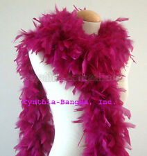 """65g 72"""" long PuRple PLum Chandelle feather boa, for diva night, dancing party"""