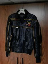 Vintage Chevrolet Corvette USA Race Jacket Style Auto Black zipper XS small VGC