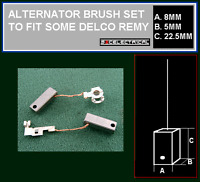 12 VOLT ALTERNATOR BRUSHES BRUSH SET TO FIT SOME DELCO REMY UNITS