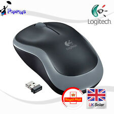 NUOVO Originale Mouse Wireless Logitech b175 b175 Nero/Grigio UK STOCK