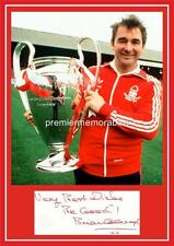 NOTTINGHAM FOREST FC LEGEND BRIAN CLOUGH SIGNED (PRINTED) 1979 EUROPEAN CUP A4
