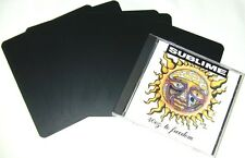 "(100) CDNS60BK30 Black Jewel Case CD Divider Cards Heavy Duty 5 5/8""x6"" 30 Mil"